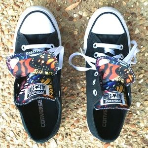 Converse Double Tongue Butterfly Sneakers Shoes